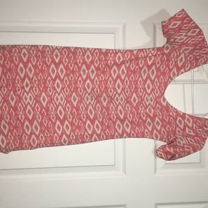 Pink and White patterned dress